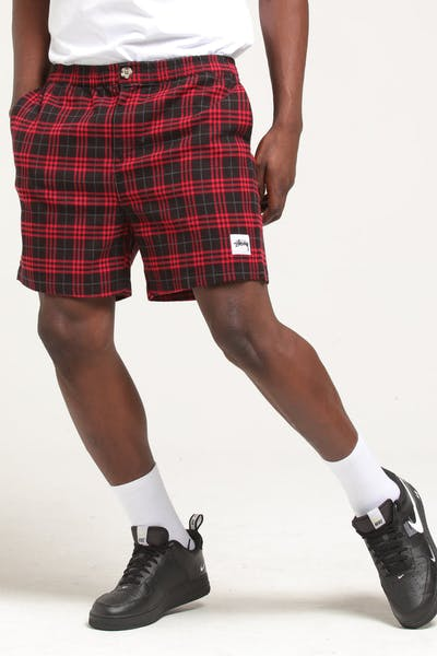 Stussy Davis Check Short Red/Black