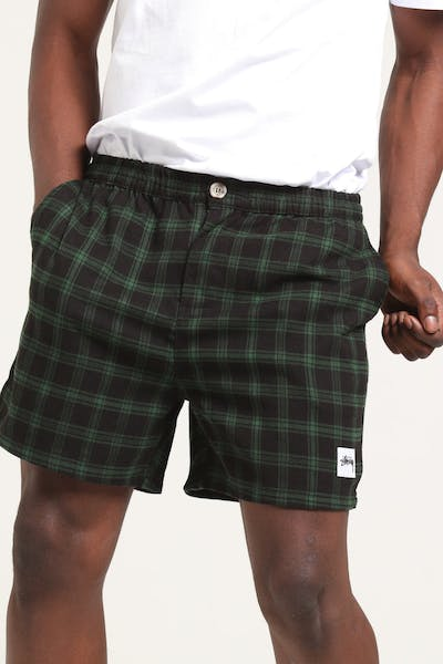 Stussy Davis Check Short Green/Black