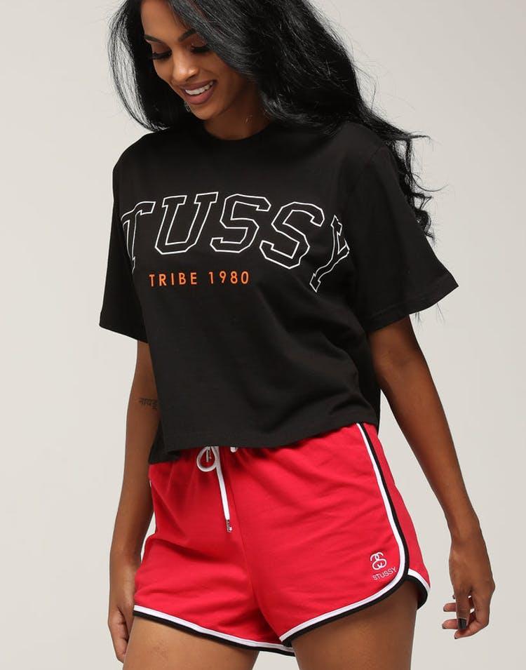 4d45f946958 Stussy Women s Outlines Crop Oversized Tee Black – Culture Kings