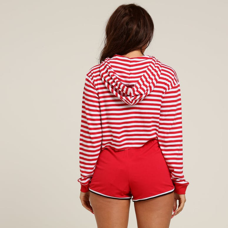 Stussy Women's Niche Crop Hood Red Stripe