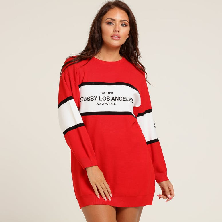 Stussy Women's Harlow Sweater Dress Red