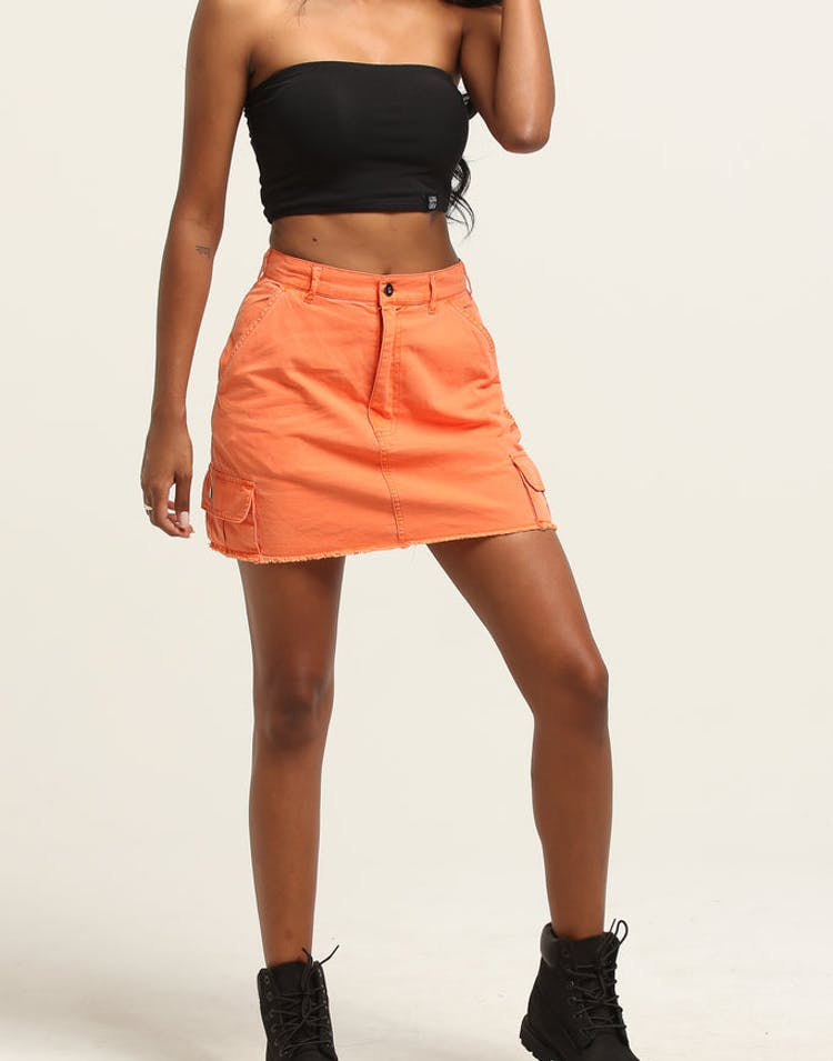 uk availability cd39d f0186 Stussy Women s Lenox Cargo Skirt Orange – Culture Kings