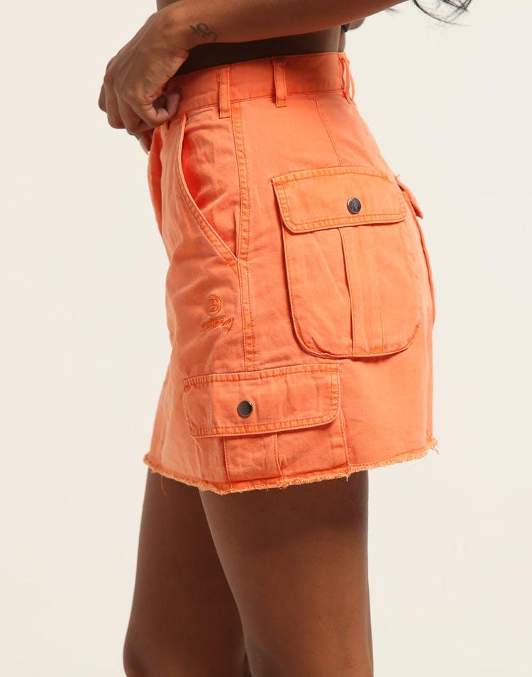 huge selection of 0470d 1747d Stussy Women s Lenox Cargo Skirt Orange