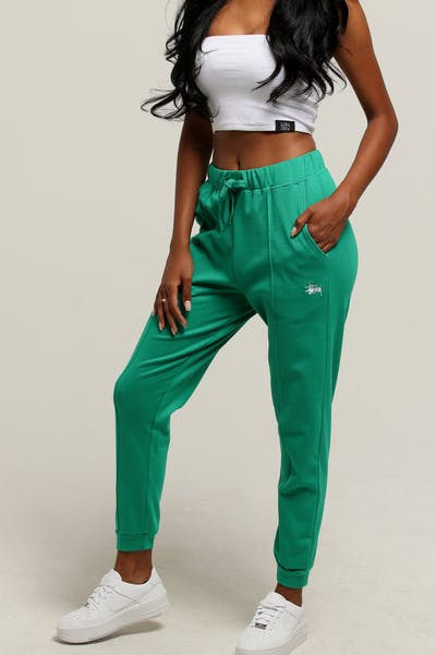Stussy Women's Wharfie Trackpant Kelly Green
