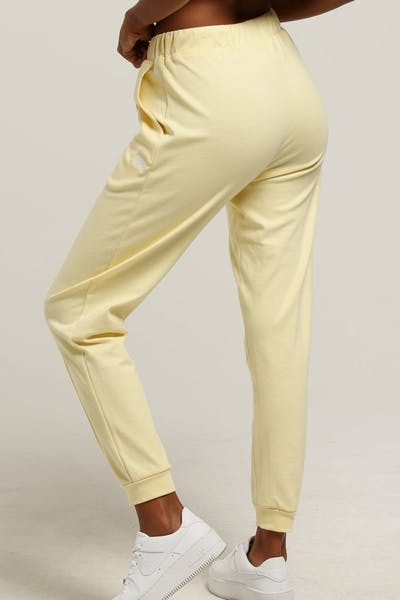 Stussy Women's Wharfie Trackpant Pale Yellow