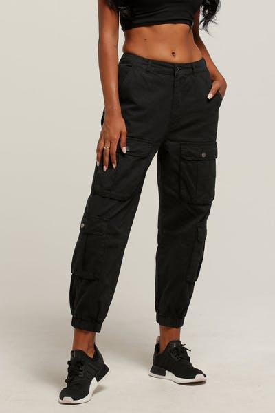 Stussy Women s Lenox Cargo Pant Black 85c80e7a5