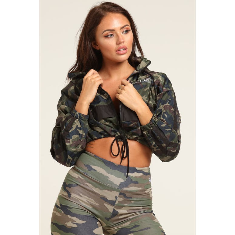 Stussy Women's Quest Spray Jacket Camo