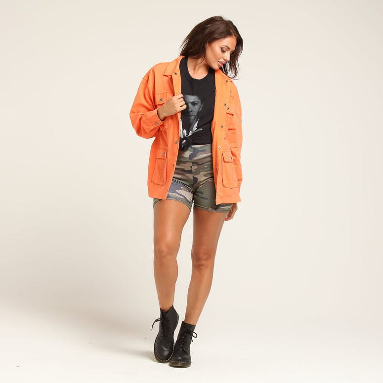 Stussy Women's Lenox Cargo Jacket Orange