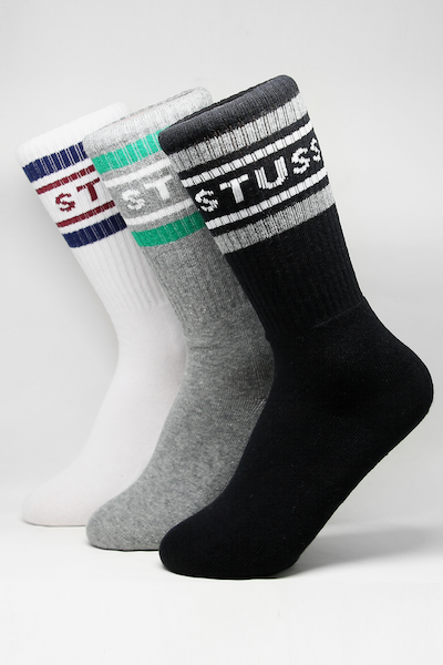 Stussy East Coast Trobe Sock 3PK Multi-Coloured