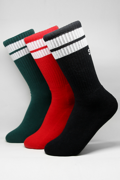 Stussy Twin Stripe Sock 3PK Multi-Coloured