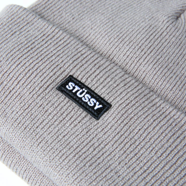 Stussy Badge Cuff Beanie Atmosphere Grey