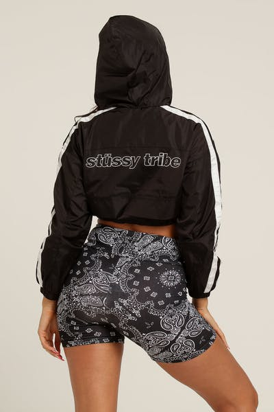 Stussy Women s Quest Spray Jacket Black Black aff2bf78c