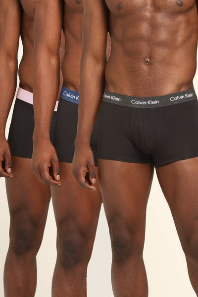 Calvin Klein Low Rise Trunk 3PK Black/Charcoal/Pink