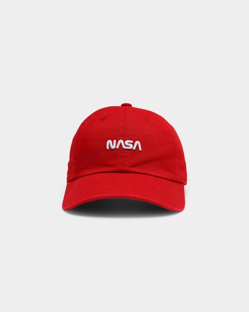 American Needle Men's NASA Micro Logo Ball Park Strapback Red