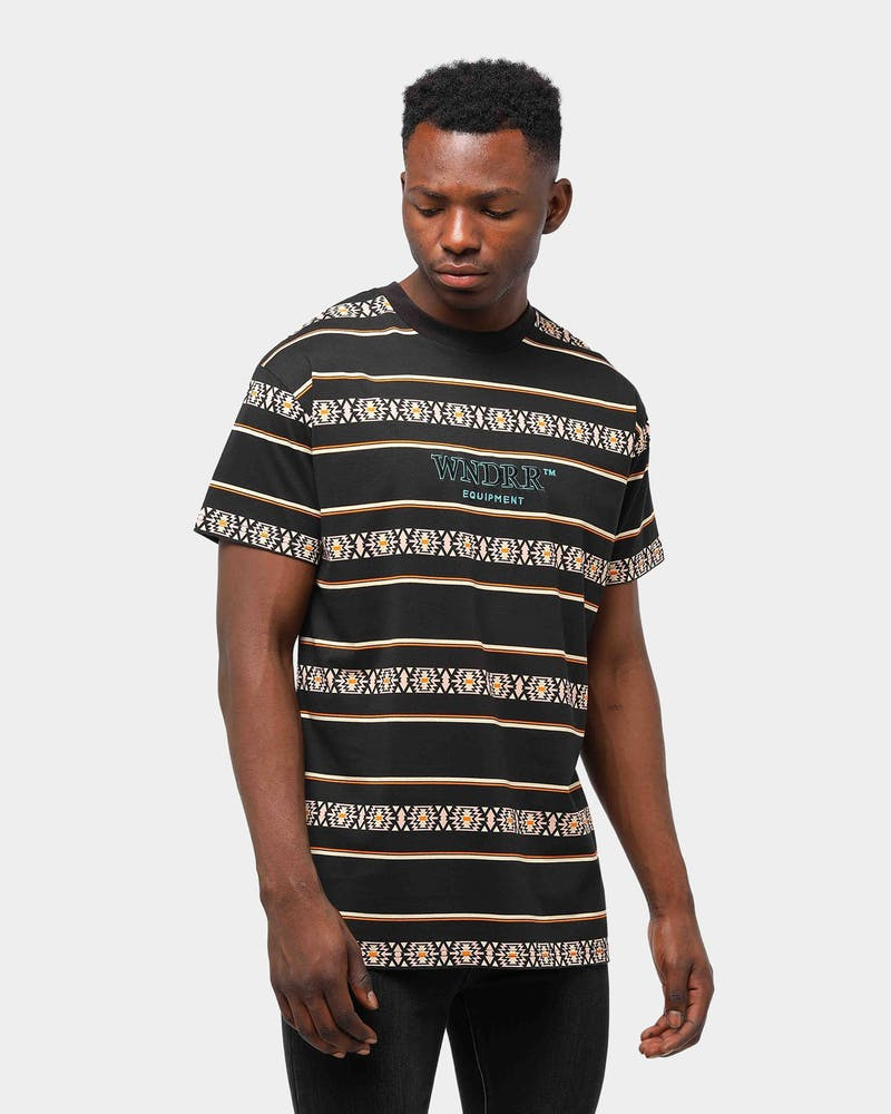 WNDRR Men's Toci Stripe Custom Fit Tee Multi-Coloured