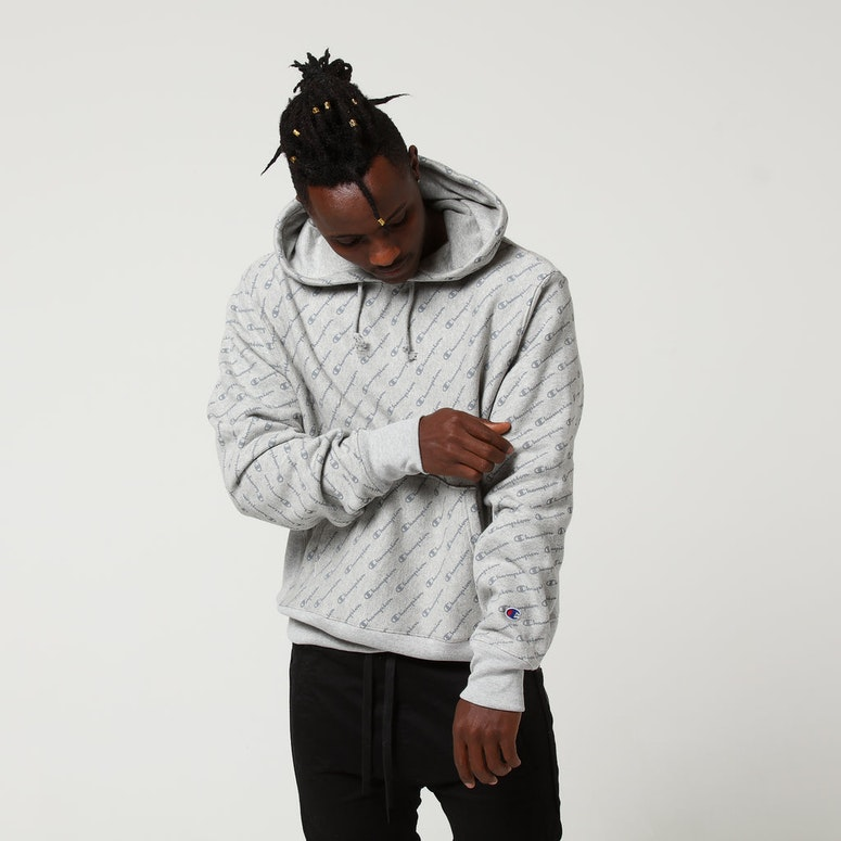 Champion Reverse Weave Hoodie All Over Grey