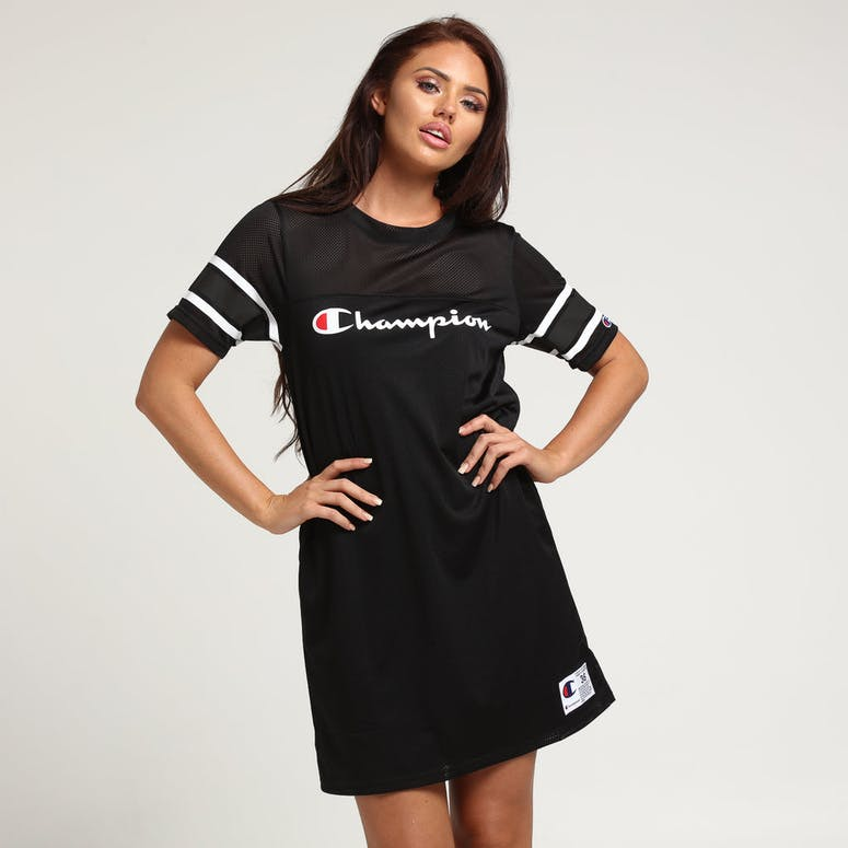 sale retailer 7a070 584c1 Champion Women s Jersey Dress Script Black