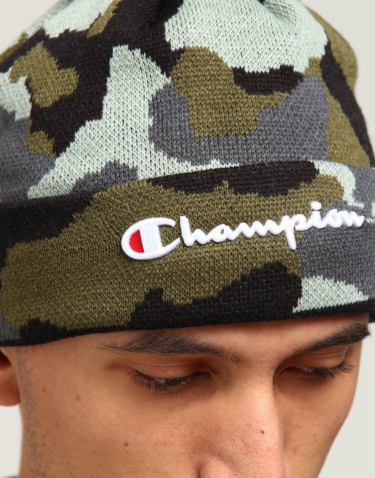 cdd3e58d2 Champion Script Knit Pom Camo/Green