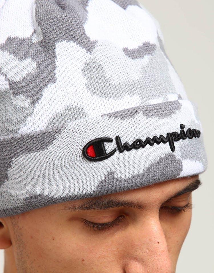 e211100b9 Champion Script Knit Pom Camo/White