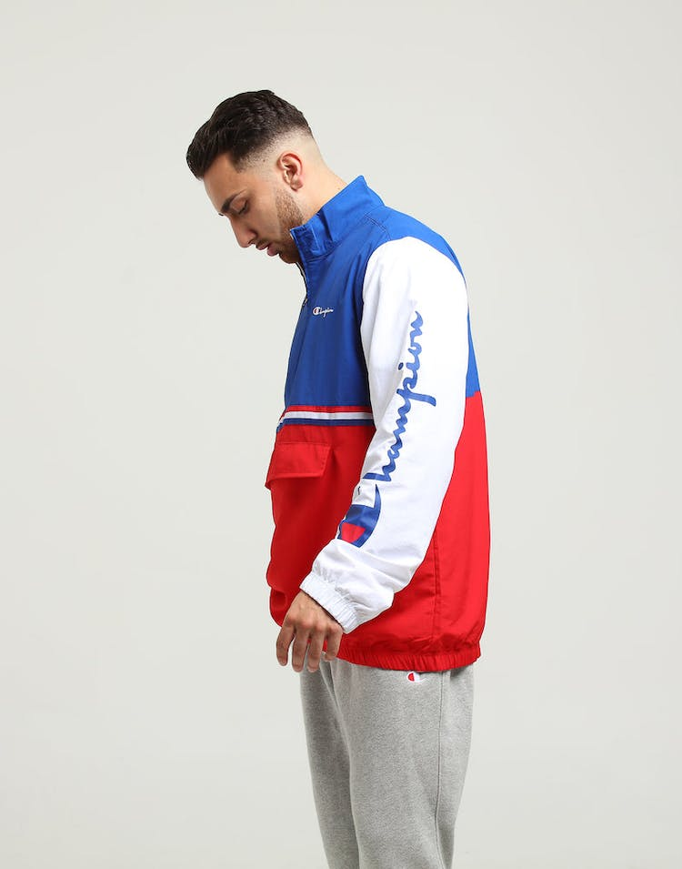 Champion Quarter Zip Light Weight Jacket Red/Blue/White