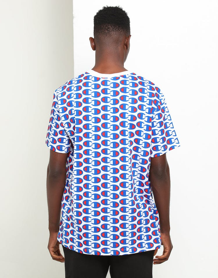 Champion All Over C Logo Tee White/Multi-Coloured