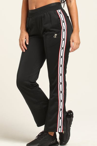 Champion Women's Track Pant Black/White/Red