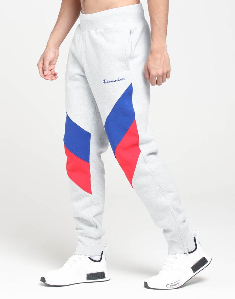 aa3f86aea16b Champion Reverse Weave Colorblock Track Pant Grey/Surf/Scarlet – Culture  Kings