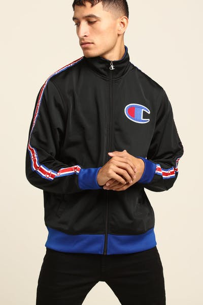 Champion Track Jacket Black/Blue