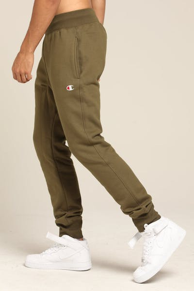 Champion Rev Weave Trim Jogger Army Green