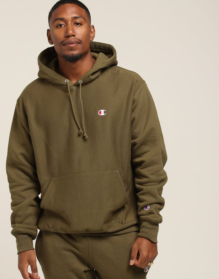 1e8448c0 Champion Reverse Weave Hoodie Army Green – Culture Kings