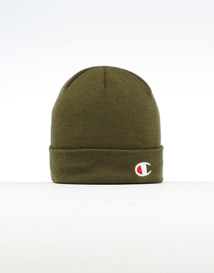 63613f58381fa Champion C Life Logo Beanie Army Green – Culture Kings