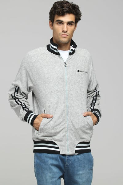 Champion Terry Warm Up Jacket Oxford Grey