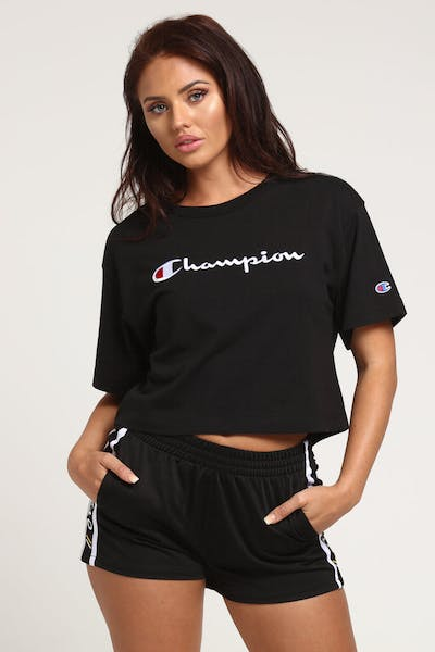 Champion Women's Heritage Tee Large Script Black
