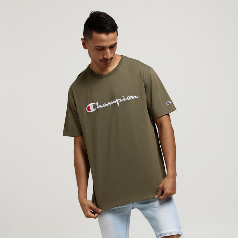 Champion Heritage Script Tee Forest Green