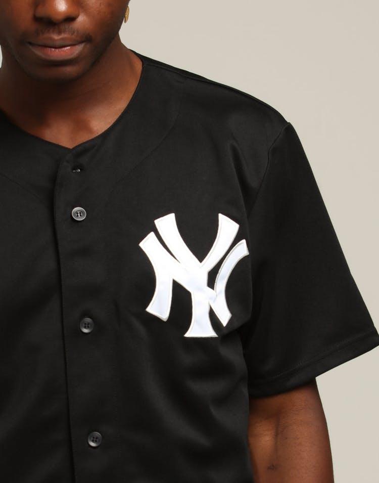 wholesale dealer 1115b 6b3f6 Majestic Athletic New York Yankees Replica Baseball Jersey Black