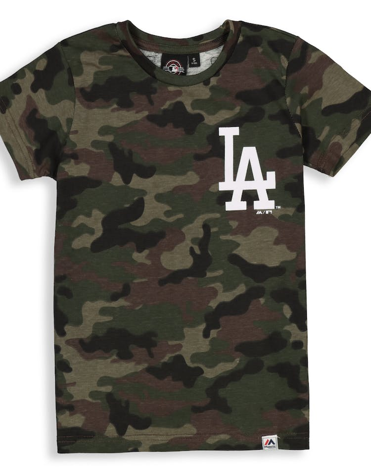 75d12e27 Majestic Athletic Youth Los Angeles Dodgers Team Logo Tee Camo/White –  Culture Kings