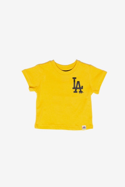Majestic Athletic Infant Los Angeles Dodgers Team Logo Tee Gold