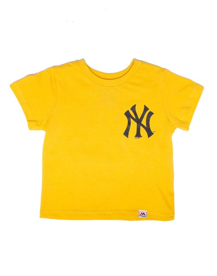 da165d03 Majestic Athletic Toddler New York Yankees Team Logo Tee Gold