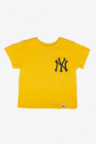 Majestic Athletic Toddler New York Yankees Team Logo Tee Gold