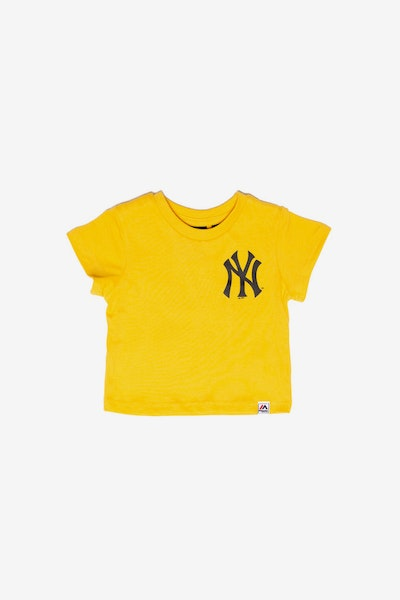 Majestic Athletic Infant New York Yankees Team Logo Tee Gold