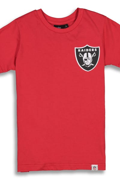 Majestic Athletic Youth Raiders Team Logo Tee Red
