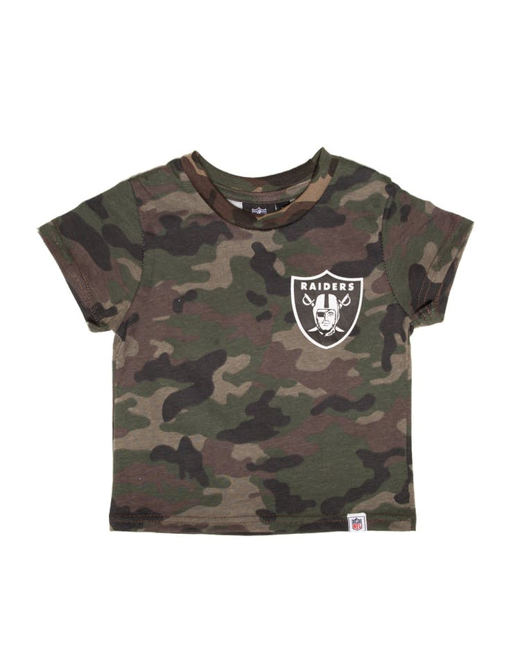 d4c2b97f Majestic Athletic Toddler Raiders Team Logo Tee Camo/White