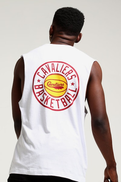 8e3606f94 Mitchell   Ness Cleveland Cavaliers Full Circle Logo Muscle White