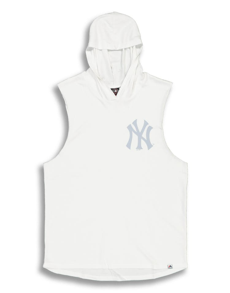 Majestic Athletic New York Yankees Vincennes Muscle Hood White/Grey