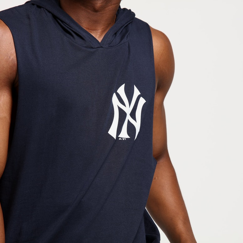 Majestic Athletic New York Yankees Vincennes Muscle Hood Navy