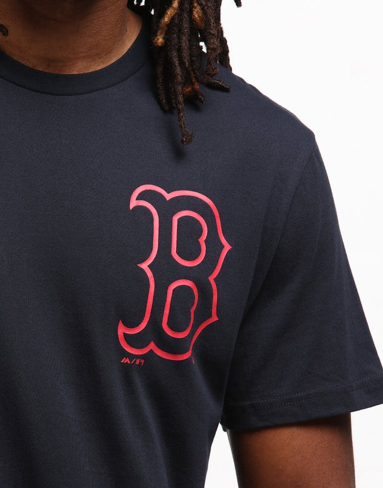 Majestic Athletic Boston Red Sox Outline Tee Navy