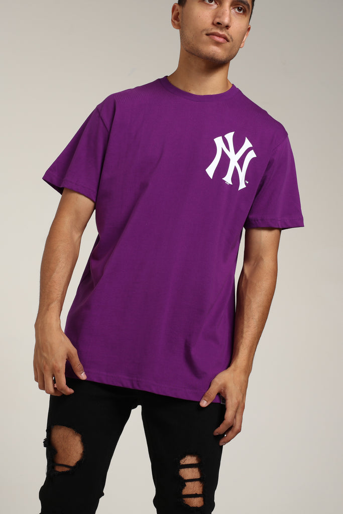 Yankees Tee York Majestic Purple Jeaner Athletic New kuOiPXZ