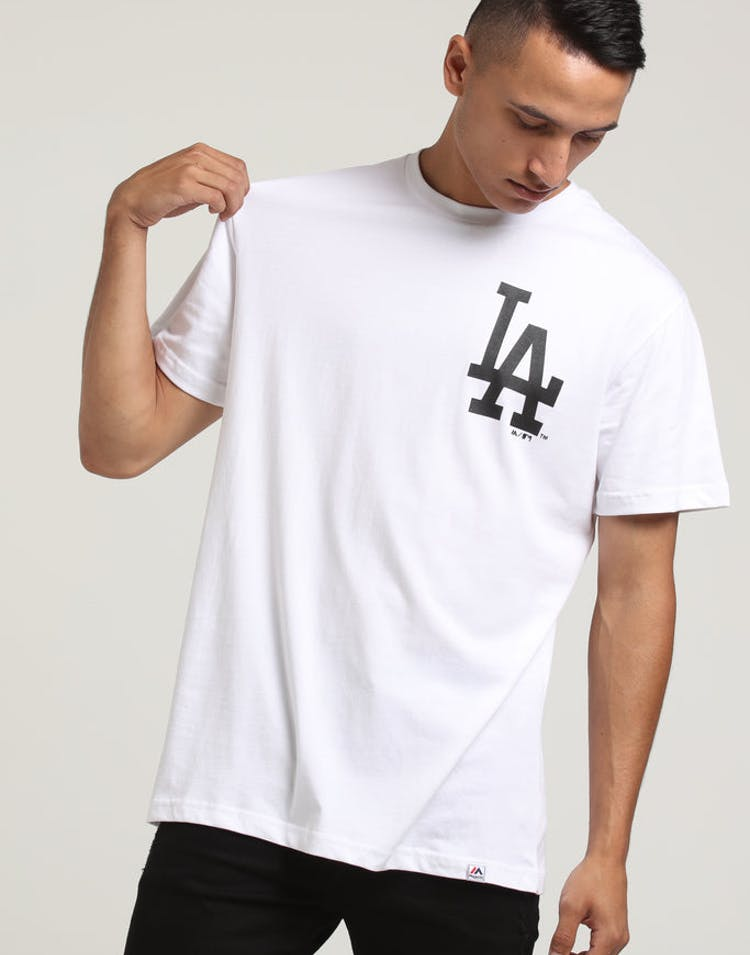 50e64d0f MAJESTIC ATHLETIC DODGERS JEANER TEE White – Culture Kings