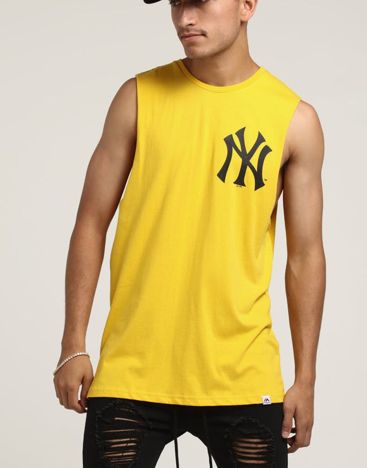 07f45e37 Majestic Athletic New York Yankees Yisser Muscle Tee Gold – Culture Kings