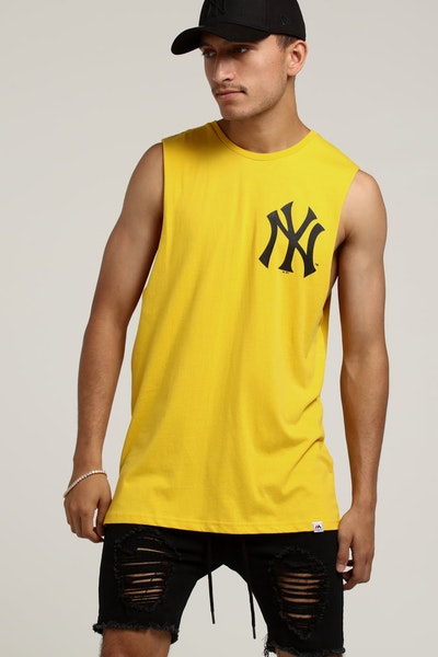 Majestic Athletic New York Yankees Yisser Muscle Tee Gold